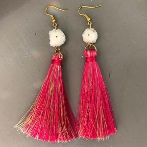 Jewelry - Handmade Stalactite Tassel Earrings
